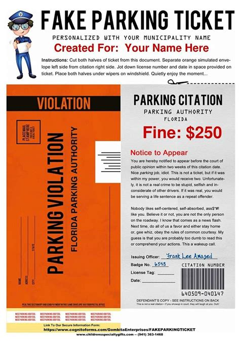 parking ticket template parking ticket pdf to email