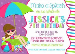 Pool party invitation wording template best template collection for Pool party invites templates