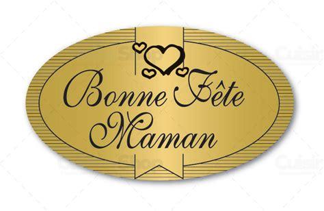 cuisine santos etiquettes adhésives bonne fête maman boite distributrice de 500 étiquettes adhésives en vente