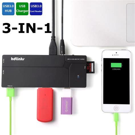 card reader combo multi usb hub 20 sd mmc ms m2 microsd kdlinks ultra slim 10 port usb 3 0 all in one hub station