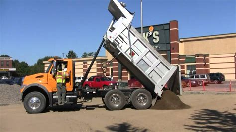 Dump Truck by Dump Truck Dumping Its Load