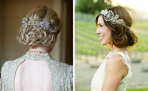1920 Wedding Hairstyles by Bridal Hair Accessories Glendalough Manor