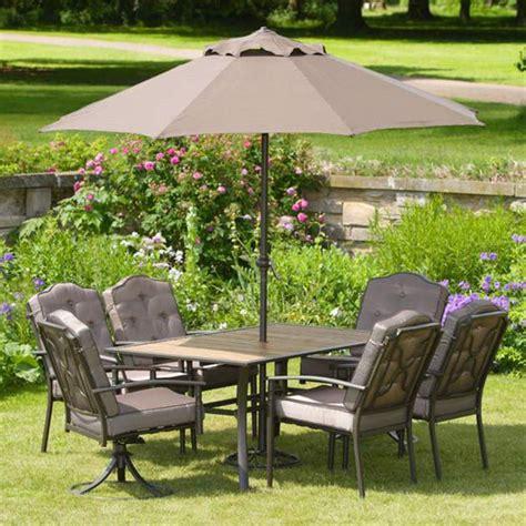 li lo leisure woodbury padded 6 seat dining set with
