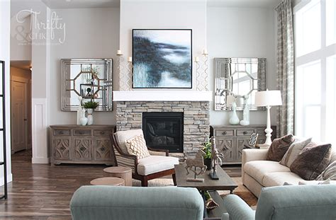 model home living room thrifty and chic diy projects and home decor