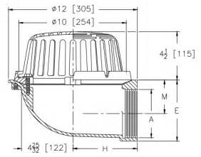 zurn z121 90 lateral roof drain