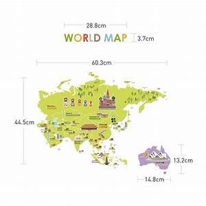 Carte Du Monde Sticker : sticker carte du monde g ante pour enfants stickers carte du monde stickers muraux ~ Dode.kayakingforconservation.com Idées de Décoration