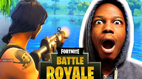 playing fortnite   st   time youtube