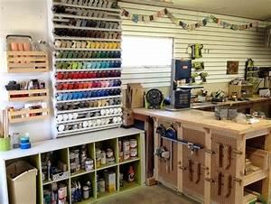 Woodshop Organization Spray Paint Rack - Reality Daydream