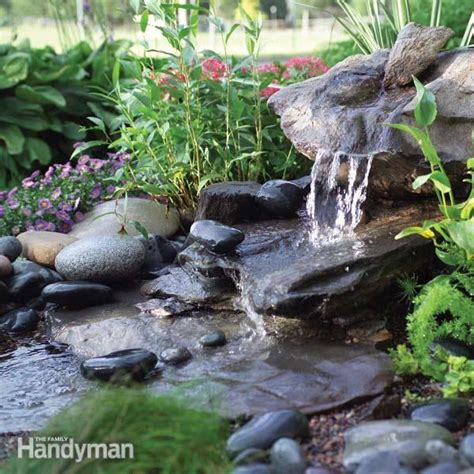 build a water feature how to build a low maintenance water feature the family handyman