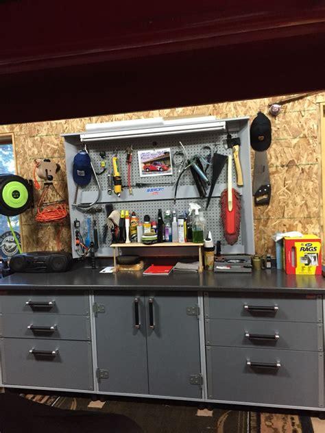 pin  actual car shop garage man cave
