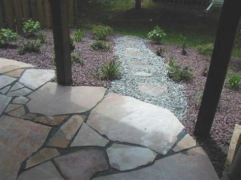 irregular flagstone patio plan your landscape and patio today grasshopper garden escapes incorporated in knoxville md 21758