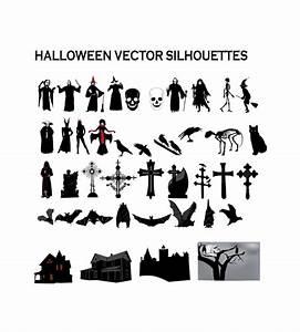 Spooky, Halloween, Vector, Silhouettes
