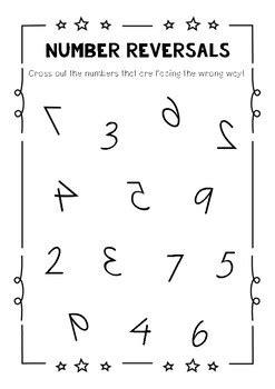 number formation  direction   number reversals