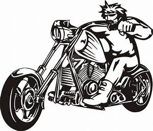 Clipart Black And White Motorcycle - ClipArt Best