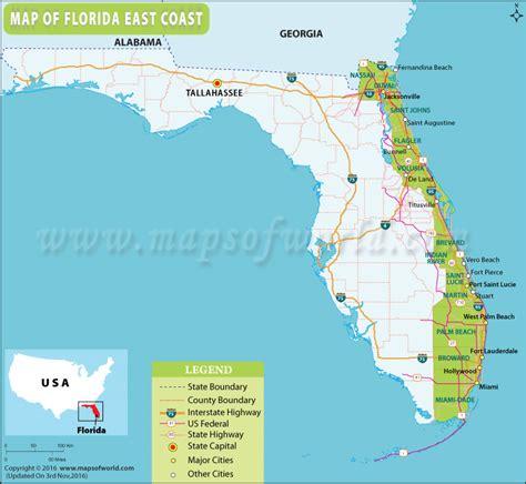 fl east coast map world map 07