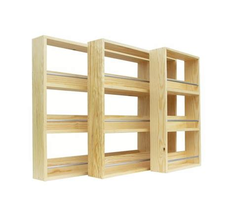Pine Spice Rack by Contemporary Style Solid Pine Spice Rack 3 Tiers Shelves
