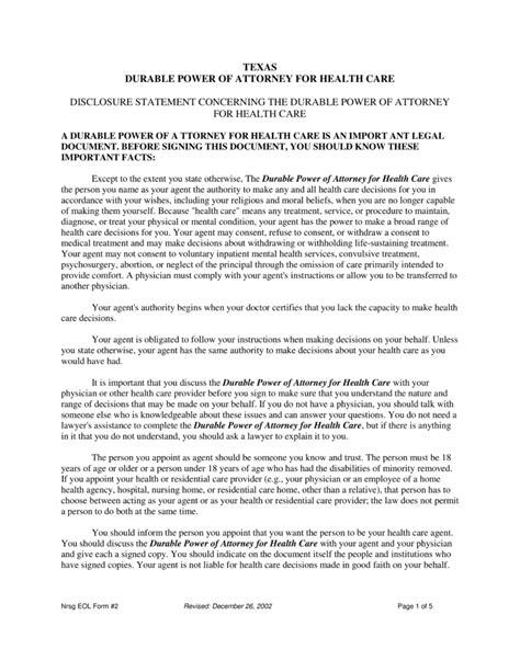 texas medical power  attorney form  eforms