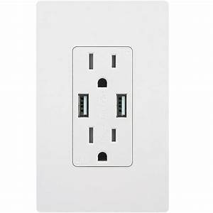 Topgreener In Wall Outlet With Usb High Speed Dual Charger