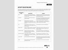 Virtual Activity Selection Grid Cindy Huggett