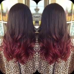Red and Brown Ombre Hair Color