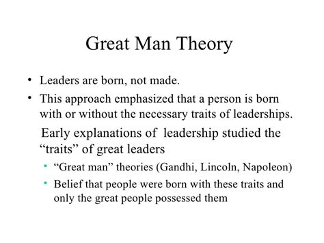 great man theory leaders  born