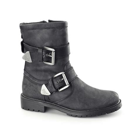 mens buckle biker boots harley davidson wilder mens leather buckle biker boots