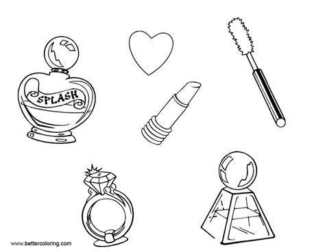 Coloring With Makeup by Makeup Coloring Pages With Free Printable Coloring