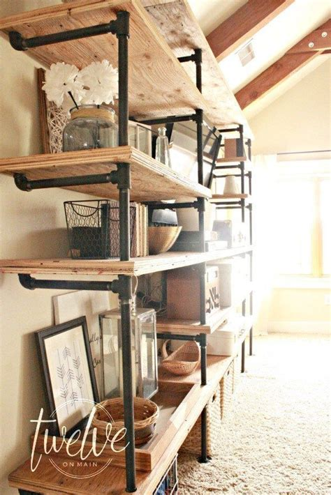 25 best ideas about industrial pipe shelves on