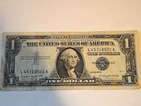 Value 1957 Silver Certificate Dollar Bill