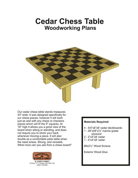 diy chess table plans wooden  woodshop accessories tool