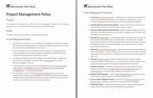 project management policy a template to document a With document management policy template