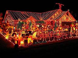 Houses, In, Christmas, Lights, Pictures