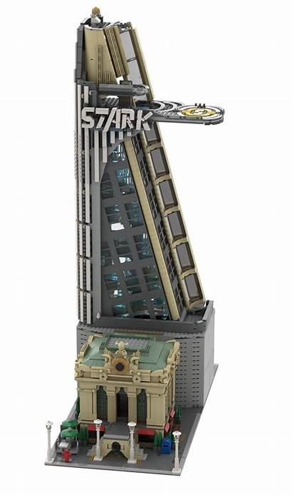 Avengers Tower Stark Moc Modular Lego Facility