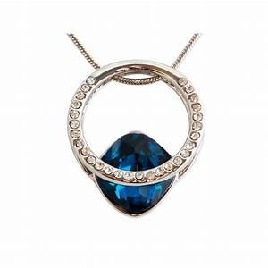 Pierre Precieuse Bleue : collier anneau solitaire strass et pierre pr cieuse bleue ~ Melissatoandfro.com Idées de Décoration