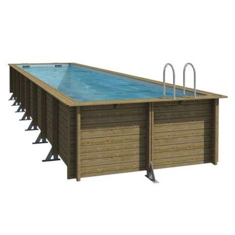 piscine hors sol bois weva procopi rectangulaire 3 5x9 5x1 33m leroy merlin