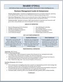 sle of business owner resume business owner resume sle writing guide rwd