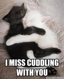 i miss cuddling with you