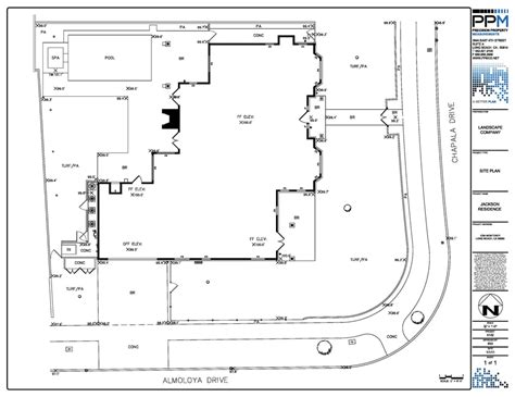 Residential Site Plan With Spot Elevations