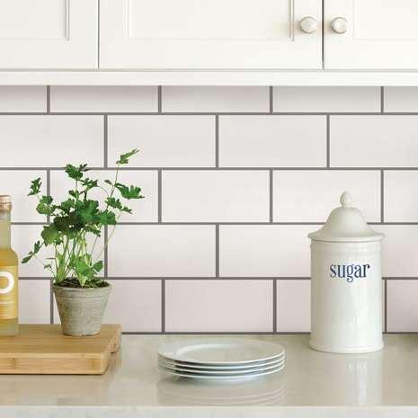 inhome subway  adhesive backsplash tiles dunelm