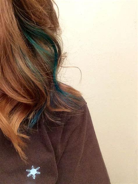 Best 25 Teal Hair Streaks Ideas On Pinterest