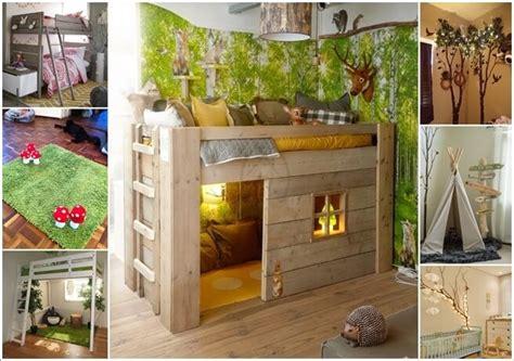 creative forest themed kids bedroom  nursery decor ideas