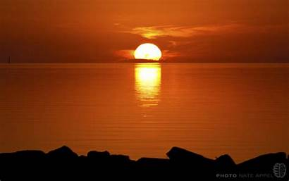 Outer Banks Winter Sunset Desktop Background Nc