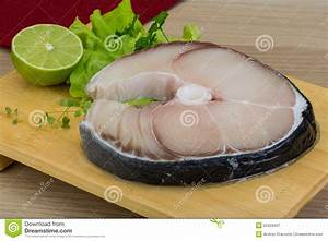 Raw blue shark steak stock image. Image of lime, healthy ...