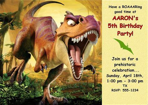 printable dinosaur birthday invitations dinosaur