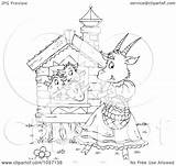 Goat Outline Coloring Waving Royalty Mom Illustration Clip Alex Clipart Bannykh Copyright Regarding Notes sketch template