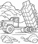 Coloring Truck Cement Preposition Printable Getcolorings Largest Dump sketch template