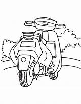 Scooter Coloring Honda Pages sketch template
