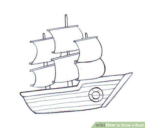 How To Draw A Water Boat by How To Draw A Boat Wikihow