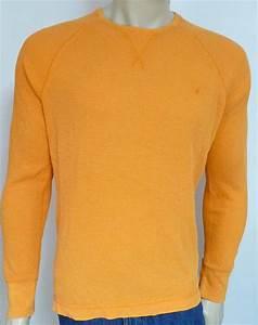 American Eagle Outfitters AEO Mens Orange Long Sleeve ...