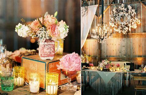Barn Wedding Centerpieces : Wedding Reception Decor Trends